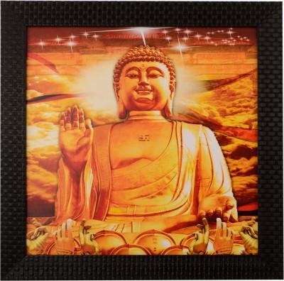 H,Decor Blessing Buddha Satin Matt Texture Canvas Painting