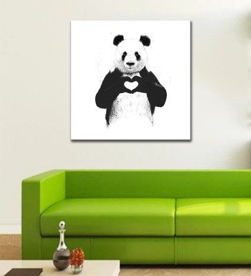 Tallenge - Valentine's Day Gift - Panda in Love - Premium Quality Ready To Mount Gallery Wrap Canvas Painting