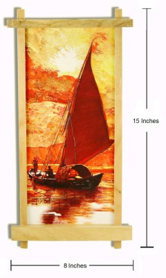Thw Modern Art Landscape with Wooden Stand Enamel Painting