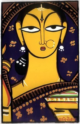 9 Gifts Bengali Lady Canvas Painting