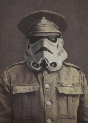 Crude Area Multi Colour Sgt Trooper Print By Terry Fan (Art Print Small) Digital Reprint Painting