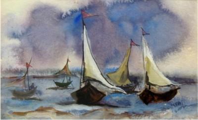 SHRI MANS CREATIONS Watercolor Painting