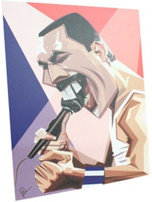 Graphicurry Freddie Digital Reprint Painting