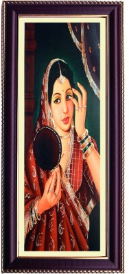 Shree Sai Beautiful Women Handicrat Decorative Wall Painting with Frame Canvas Painting