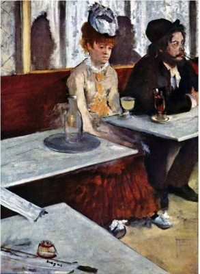 Snapgalaxy Art Panel - Absinthe by Degas Canvas Painting