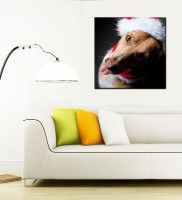 Tallenge Christmas Collection - Dog With Christmas Hat - Gallery Wrap Canvas Art(15 inch X 15 inch, Stretched) best price on Flipkart @ Rs. 2749