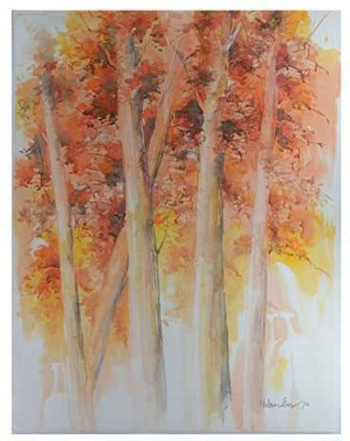 Craffitorium eServices Pvt. Ltd. Aspens in Autumn Watercolor Painting