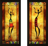 SAF Set of 2 abstract Canvas Painting(17 inch x 7 inch)