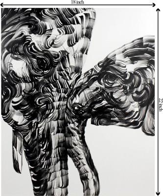 Tiedribbons Love and Dance unframed Cotton Medium Grain Canvas Roll (Set of 1)