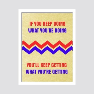 Oobinno Keep Moving Motivational Digital Reprint Painting