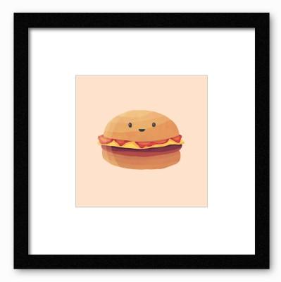 Dreambolic Burger Dreams Poster Digital Reprint Painting