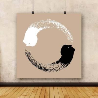 Artzfolio Taichi Yin And Yang Unframed Art Print Canvas Painting