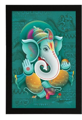 Delight Blessing Ganesha Ink Painting