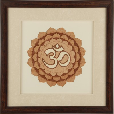 Adaa Marquetry Design of spiritual icon OM Canvas Painting