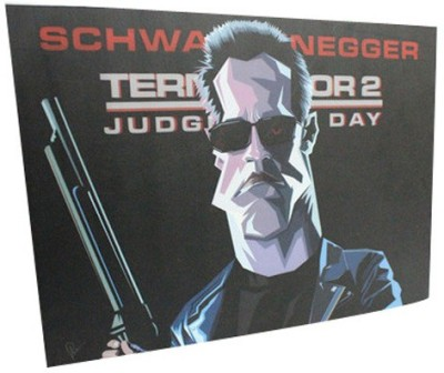 Graphicurry Terminator Digital Reprint Painting