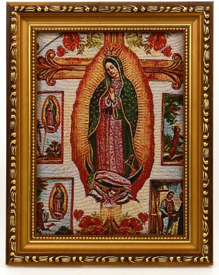 Fashion Envoy Mother Mary Painted Photo Frame Natural Colors Painting