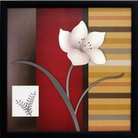 eCraftIndia Abstract Flower Canvas Painting(11 inch x 11 inch)