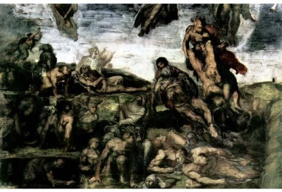 Snapgalaxy Art Panel - Resurrection of the dead from the graves by Michelangelo Canvas Painting