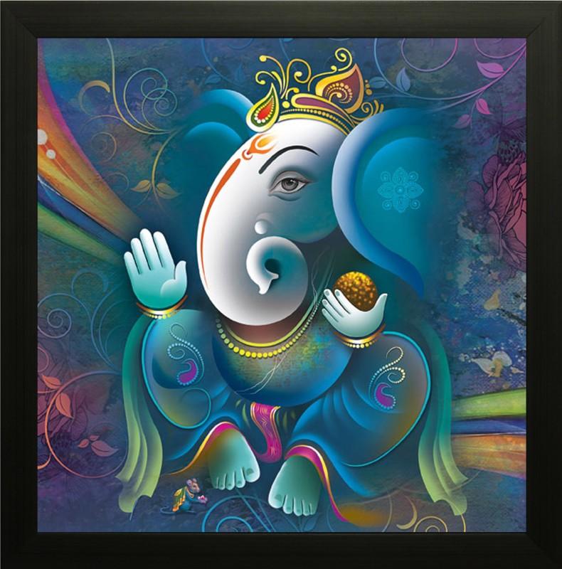SAF Ganesh Ink Painting(13 inch x 13 inch)