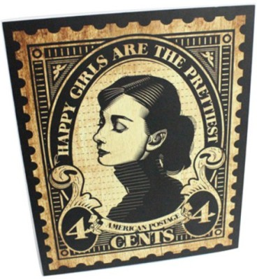 Graphicurry Audrey Stamp Canvas Painting