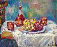 IMFPA Still Life Unframed Reprint Painting Canvas Painting(18 inch x 24 inch)