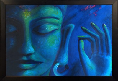 Divinecrafts Blessing Buddha Canvas Painting
