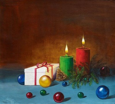 IMFPA Gifts n Candles Unframed Reprint Painting Canvas Painting