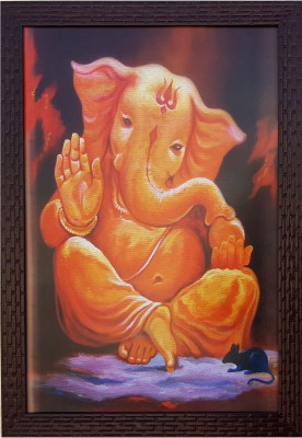 Divinecrafts Blessing Ganesha Canvas Painting