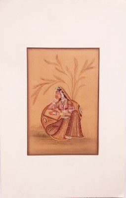 Indiana Mnrsilk- Ragini In Deep Thought Canvas Painting
