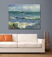 Tallenge Old Masters Collection - Seascape Near Les Saintes-Maries-De-La-Mer By Vincent Van Gogh - Medium Size Rolled Canvas Art Print Of Oil Painting