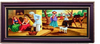Shree Sai Charming Beautifull Girls Wall Painting for Home Canvas Painting
