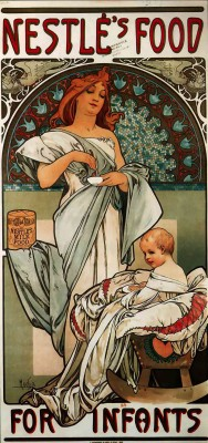 The Museum Outlet Nestle by Alphonse Mucha - Canvas Print Online Buy (24 X 18 Inch) Canvas Painting