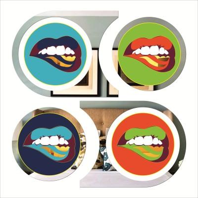 Rkason Mirror Finish Wall Art Amazing Lips Acrylic Painting