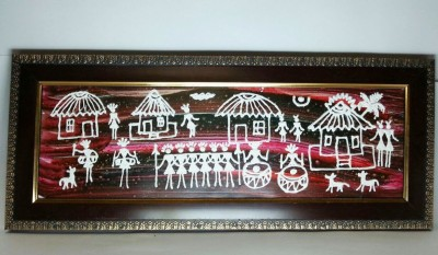Jupiter Gifts and Crafts Saora - White Canvas Painting