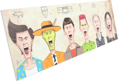 Graphicurry Evolution of Jim Carey Canvas Painting