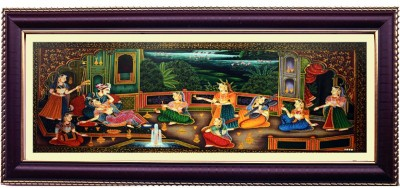 Shree Sai King Queen Love Wall Painting Handicraft Canvas Painting