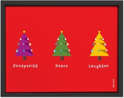 TwoGud Christmas Special- Christmas Trees Digital Print Wall Art Ink Painting