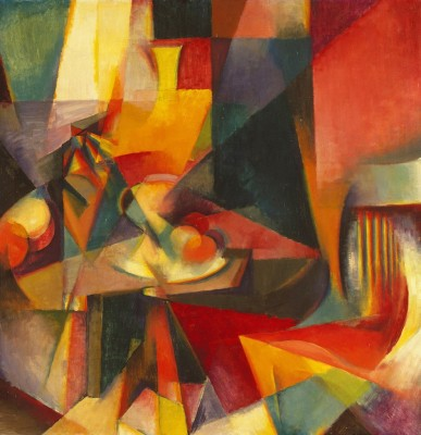 Ocher Art 30x30 INCHES, Stanton Macdonald Wright  Synchromy Canvas Painting 30 inch x 30 inch  available at Flipkart for Rs.8200