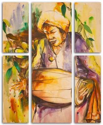 Painting Mantra 5 Piece Drummer Split Art Set Canvas Painting