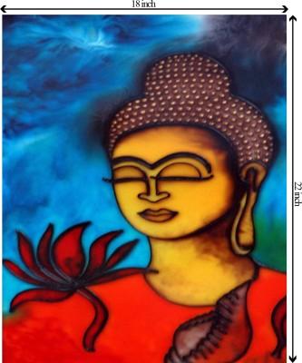 Tiedribbons Lord Buddha unframed Cotton Medium Grain Canvas Roll (Set of 1)