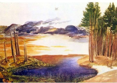 Snapgalaxy Art Panel - Ponds in the forest by Durer Canvas Painting