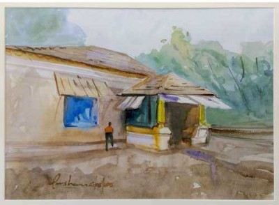 Craffitorium eServices Pvt. Ltd. Goan Heritage Watercolor Painting