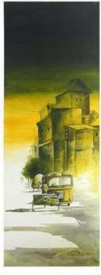 Craffitorium eServices Pvt. Ltd. Cityscape: Calcutta Watercolor Painting