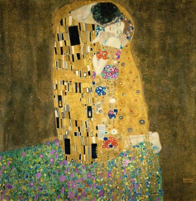 Ocher Art 30x30 INCHES, Gustav Klimt   The Kiss  Couple in love Canvas Painting 30 inch x 30 inch  available at Flipkart for Rs.8100