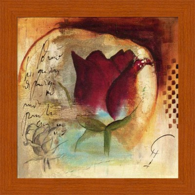 Painting Mantra Red Rose Canvas Painting