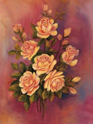 IMFPA Peachy Unframed Reprint Painting Canvas Painting