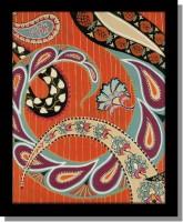 Yudezine Orange Ethnic Canvas Painting(24 inch x 18 inch)