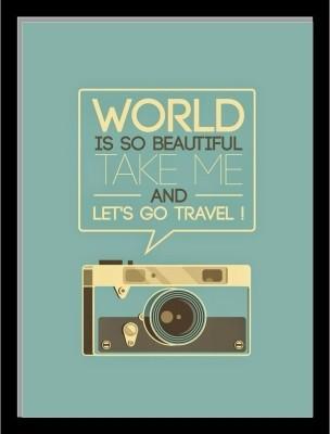 Oobinno Let's Go Travel Digital Reprint Painting