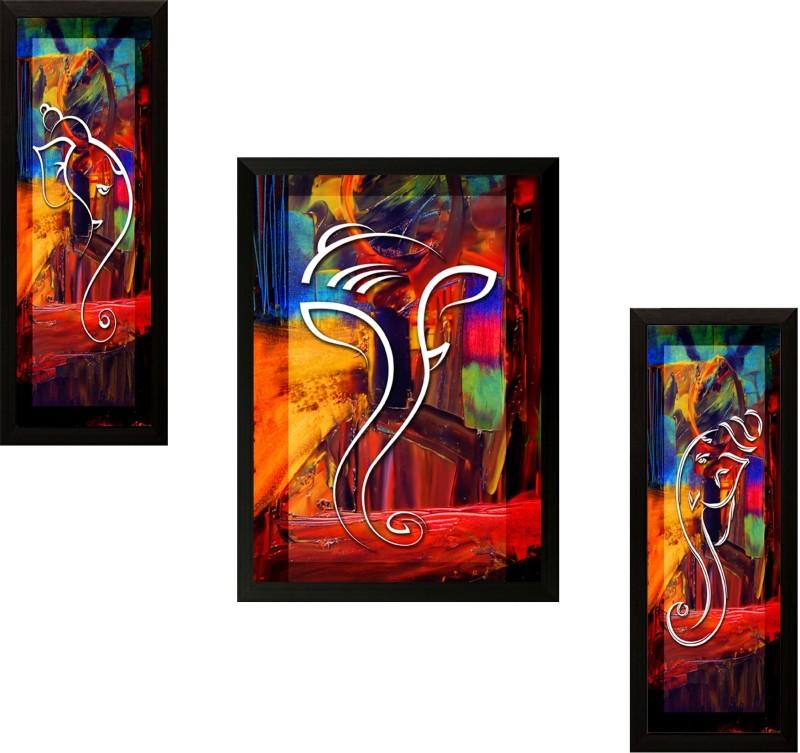 SAF Ganesh Modern art Ink Painting(13.5 inch x 22 inch)