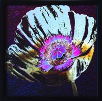 eCraftIndia Floral Theme Satin Matt Texture Canvas Painting(11 inch x 11 inch)